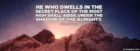Psalm 91:1 NKJV - Under The Shadow Of The Almighty - Facebook Cover Photo