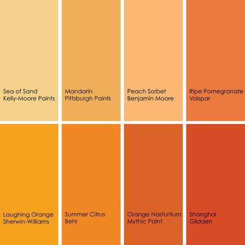shades of orange shades of orange color palette decorating