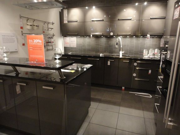 grey lacquer kitchen cabinets pictures of kitchens with ikea wood countertops ikea 4082