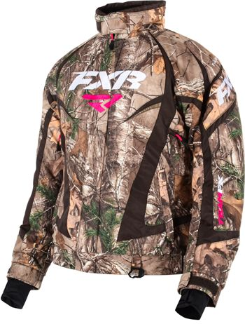 FXR Women's TEAM JACKET - CAMO (2015). Snowmobile gear.  http://www.upnorthsports.com/snowmobile/snowmobile-clothing/snowmobile-jackets/womens-jackets/fxr-womens-team-jacket-camo-2015.html