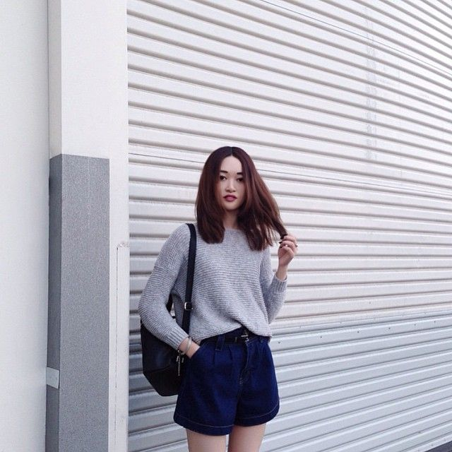 denim shorts #pixiemarket