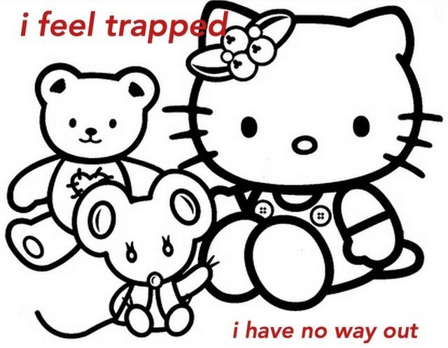 Pin By Arken On Grunge Hello Kitty Colouring Pages Kitty Coloring Hello Kitty Coloring