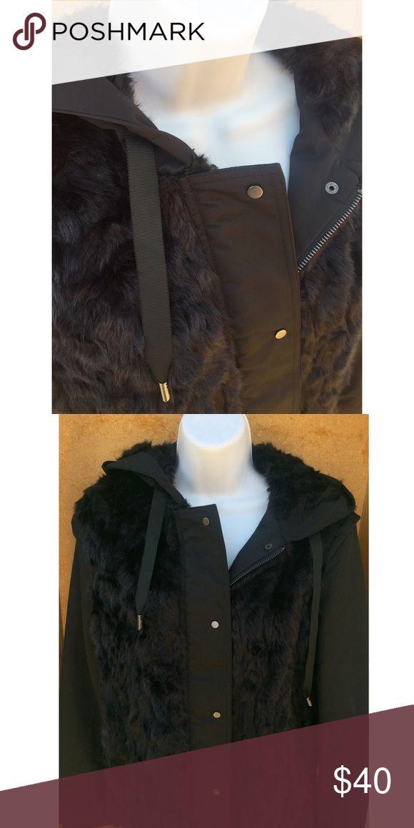 Zara Fur Jacket Zara/Jacket/Woman/Fur/New Zara Jackets & Coats Utility Jackets