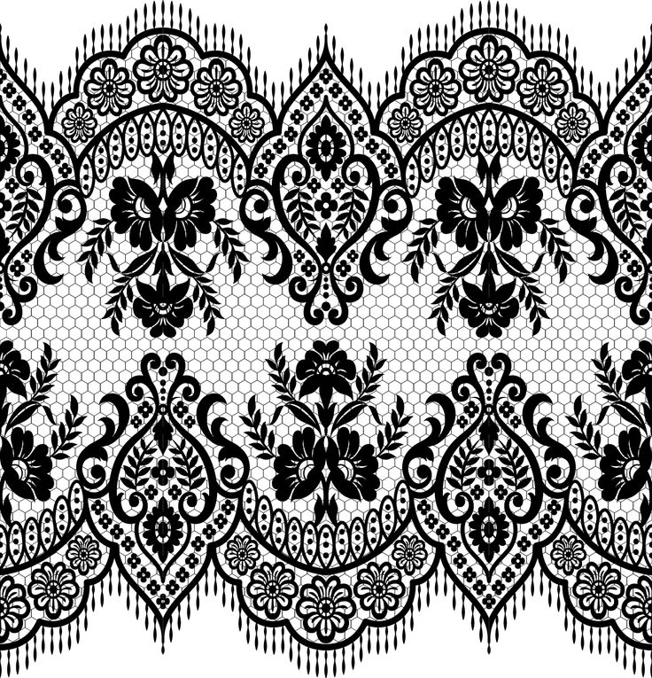 Lace seamless borders vectors set 02