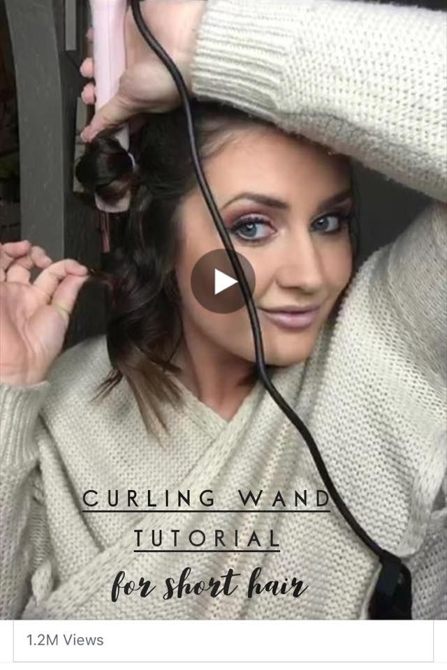 how to use a curling wand on short hair