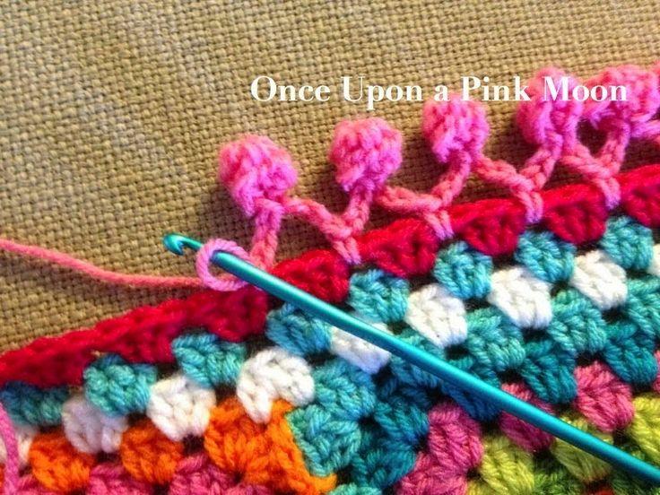 MES FAVORIS TRICOT-CROCHET: Tuto crochet : De jolis pompons pour une bordure granny