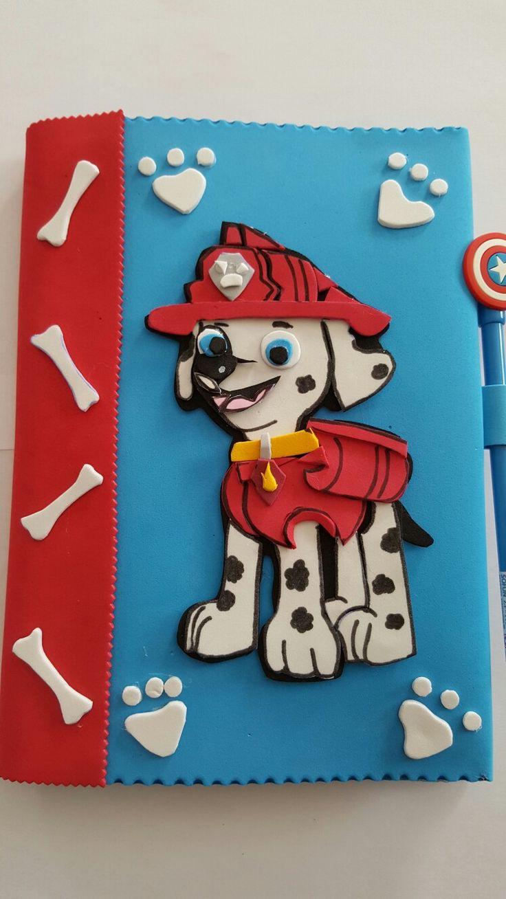 Cuaderno goma eva patrulla canina cuadernos decorados - Manualidades patrulla canina ...