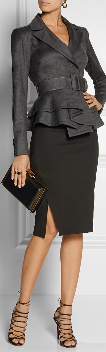 Oscar De La Renta Jacket and Donna Karan skirt