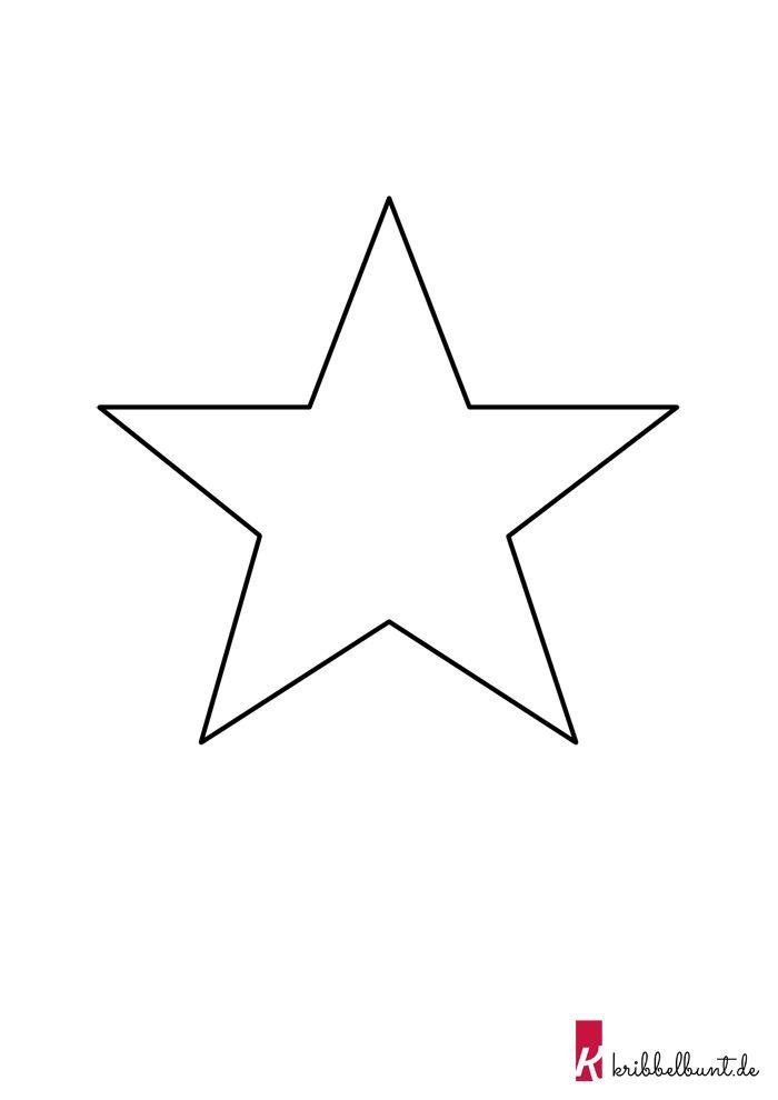 Bastelvorlage Sterne