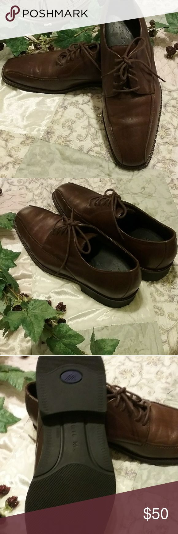 Neal M. Shoes for men          8 Handsomely designed for class!  Brown leather uppers, these are in great condition bearly worn. Neil M Shoes Loafers & Slip-Ons