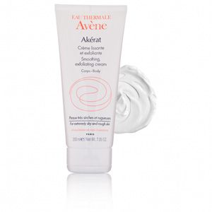 Avene Akerat Smoothing Exfoliating Cream - how 2 get rid of bumpy skin, rough knees, elbows, ankles, feet, discolored patches of skin etc.
