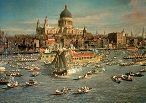 London, The Thames and St Paul's Cathedral Wooden (500pc) Jigsaw Puzzle by Wentworth Wooden Jigsaw Puzzles