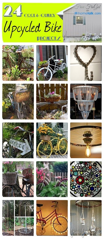 DIY & Crafts - Outdoors: 24 Cool and Quirky Upcycled Bike Projects | curated by Frou FruGal