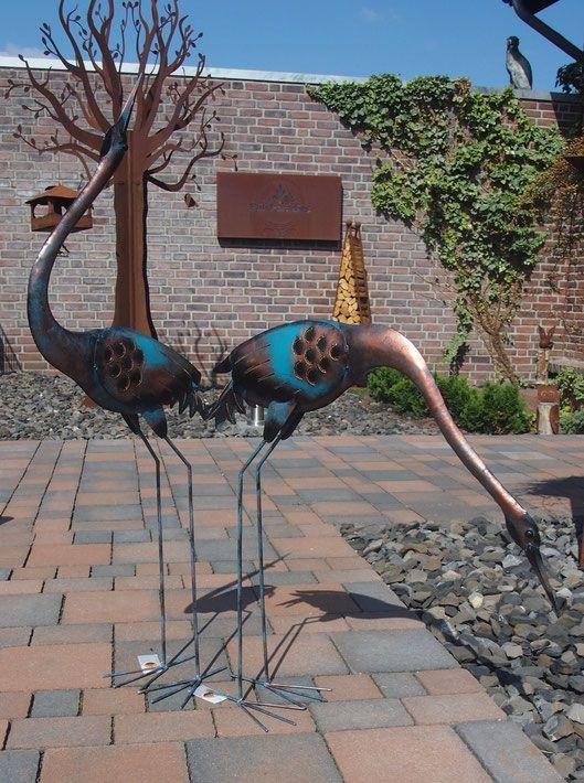 Vogel Skulpturen Aus Metall Bronze Kupfer Design Große Garten