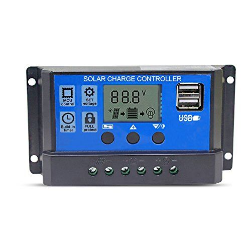 12V/24V Solar Charge Controller 20A Charge Regulator Intelligent, USB Port, LCD Display Overload Protection  ☀️ Battery Voltage: 12V/24V auto detect. Charge Current: 20A & Discharge Current: 20A  ☀️ Dual USB output (1A, 2A), improved LCD display easily read all parameters  ☀️ Using series PWM main charging circuit, effectively improve the charging efficiency  ☀️ Build-in short-circuit protection, open-circuit protection, reverse protection, over-load protection.  ☀️ Package comes with ...