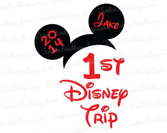 My FIRST DISNEY TRIP, Iron On Transfer, digital download, Printable, Mickey ears, First Trip to Disney, Disney World, Disneyland, 1st Trip on Etsy, $4.25