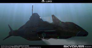 Skydiver under sea by RAF-MX
