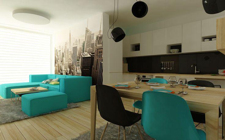 Návrh obývačky v štýle New York - druhá časť. Interiérový dizajn od Kivvi architects. Living room interior design - part 2 by www.kivvi.sk