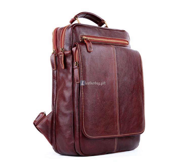 $216.30 Large Leather Backpack For Men Travel Backpack