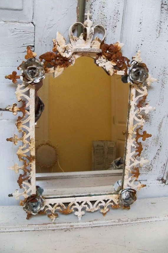 Ornate large framed mirror French inspired by AnitaSperoDesign, $145.00