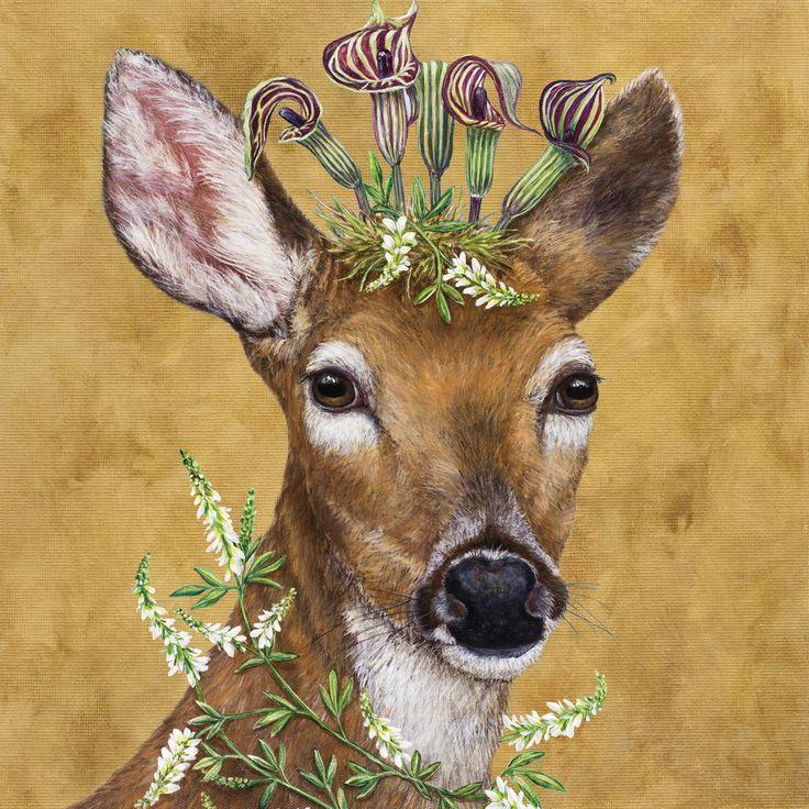 Woodland Princess Napkin 33x33 cm #ppd #paperproductsdesign #designer #design #vickisawyer #deer #reh #animals #tiere #napkin #serviette