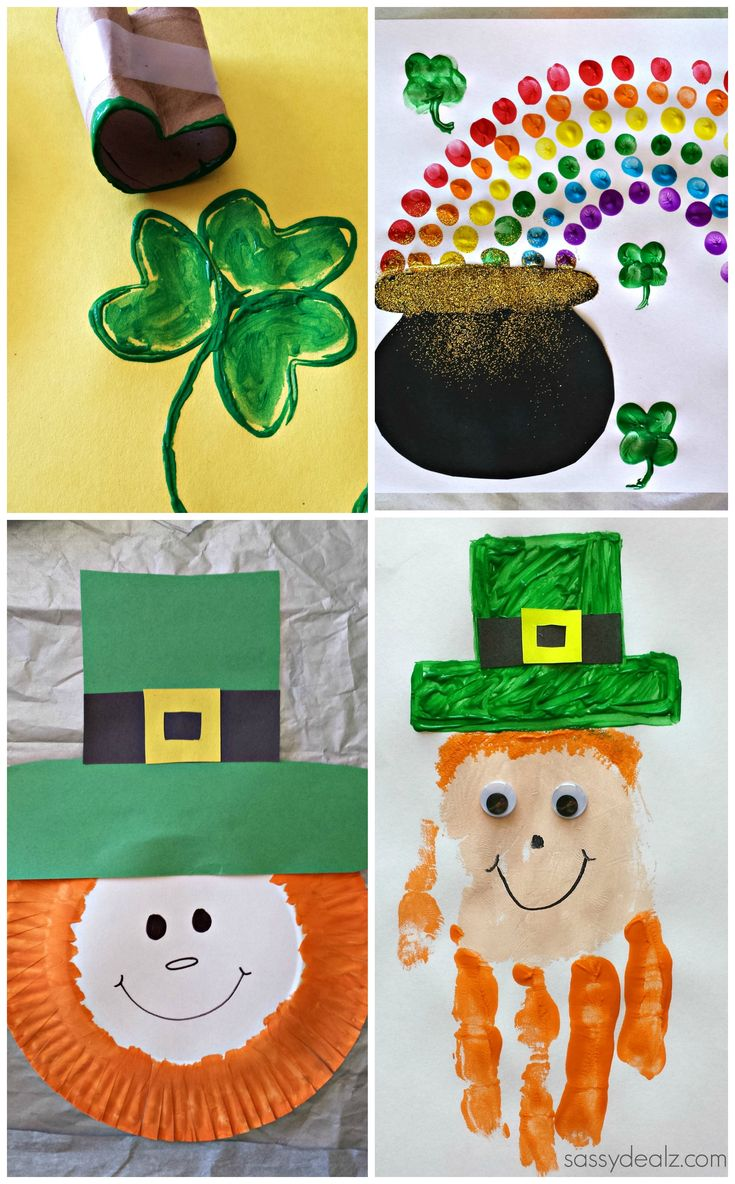 Here's a list of st patricks day crafts for kids! You will find leprechauns, rainbows, pot of gold, shamrocks, lucky charms, and much more with pictures!