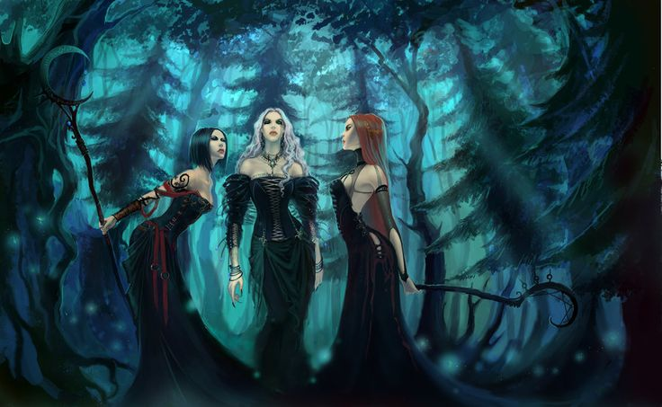 Witches blues by *anndr on deviantART