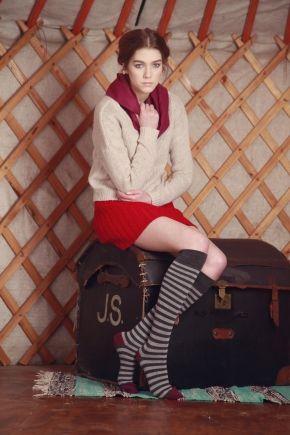Elle Wool & Viscose Striped Knee High Socks  £8.99