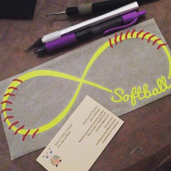 Softball infinity decal Perfect for water by MaesGirlyThings