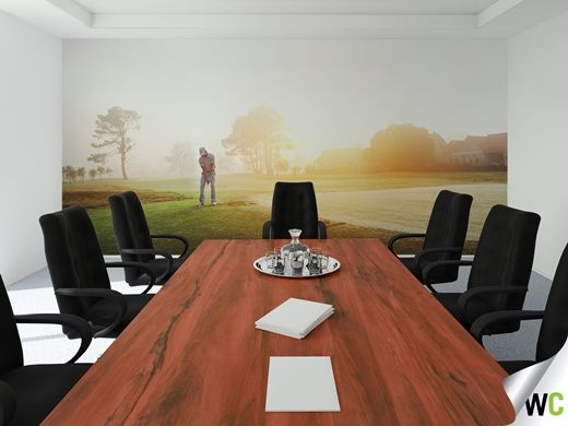 A wall mural for the golfing enthusiast - perfect for the home or office!