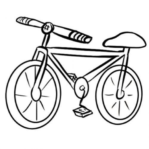 Https Www Guiainfantil Com Dibujo De Una Bicicleta Para Colorear Bicicleta Para Colorear Bicicleta Dibujo Dibujos Para Colorear