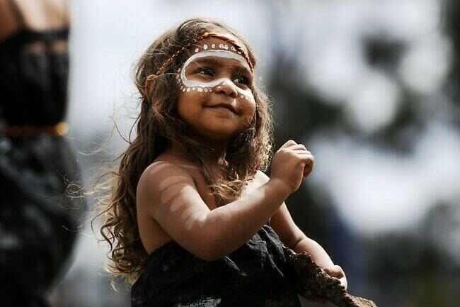 a beautiful Australian aboriginal girl. 3 years old and ...