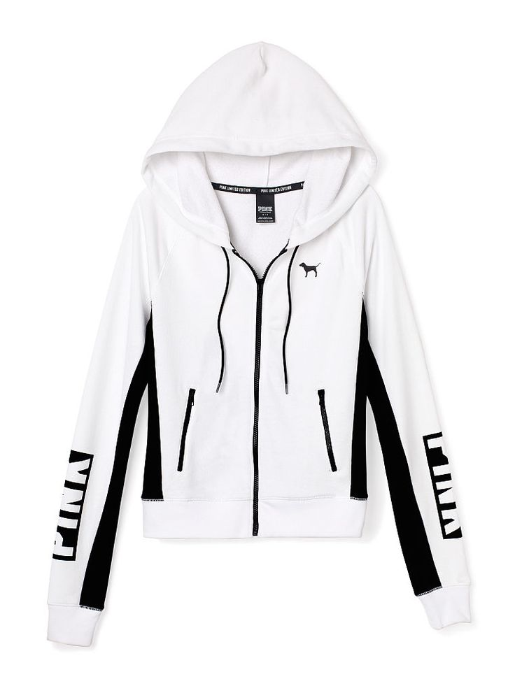 White and black hoodie