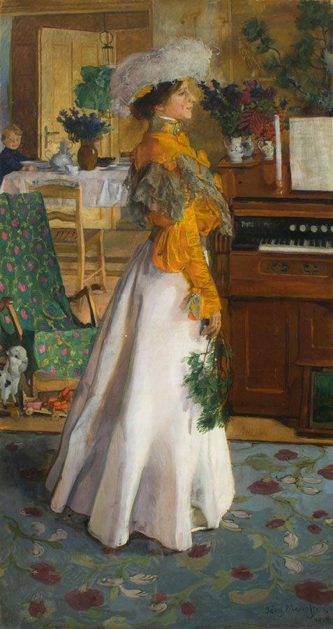 Józef Mehoffer, Portret żony (Na letnim mieszkaniu),  1904, własność: MNK