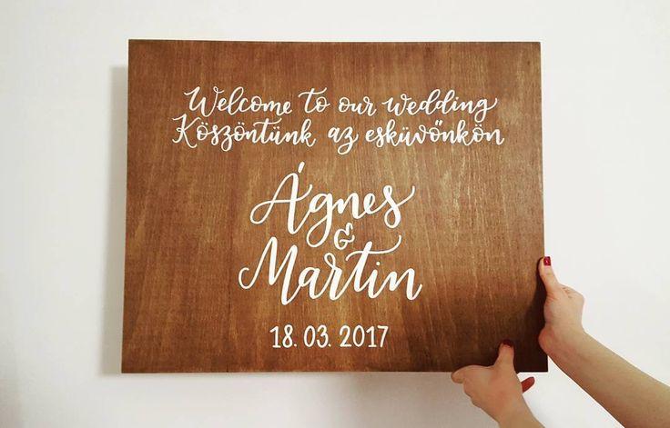 Köszöntünk az esküvőnkön  Welcome to our wedding