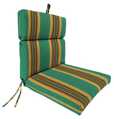 Jordan Manufacturing French Edge Chair Cushion - Fiji Green - Jordan