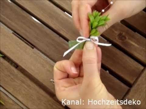 Hochzeitsanstecker - Anstecker für die Hochzeit selber basteln