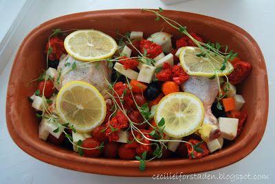 Cecilie i forstaden: Kylling med chorizo og rotgrønnsaker i leirgryte