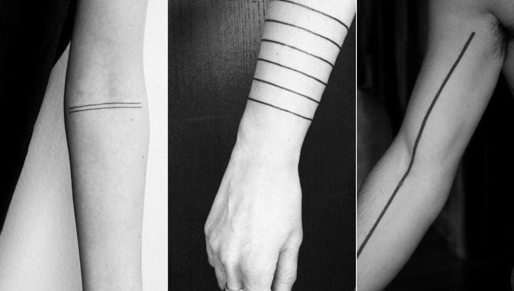 straight line tattoos - Google Search