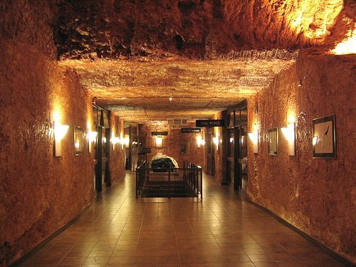 Coober Pedy Australia. An entire city built underground quite simply because it is too hot above ground!