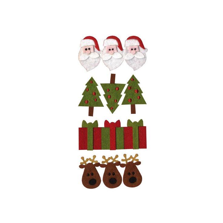 15 best figuras de fieltro images on pinterest felt - Decoraciones de navidad ...