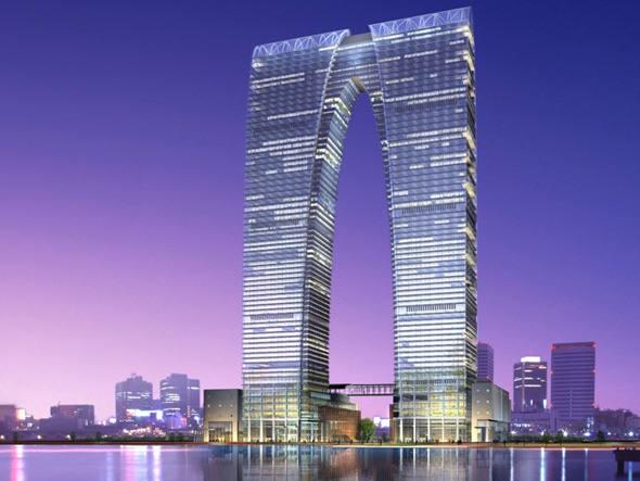 Arranha-céu em forma de ceroulas causa polêmica na China