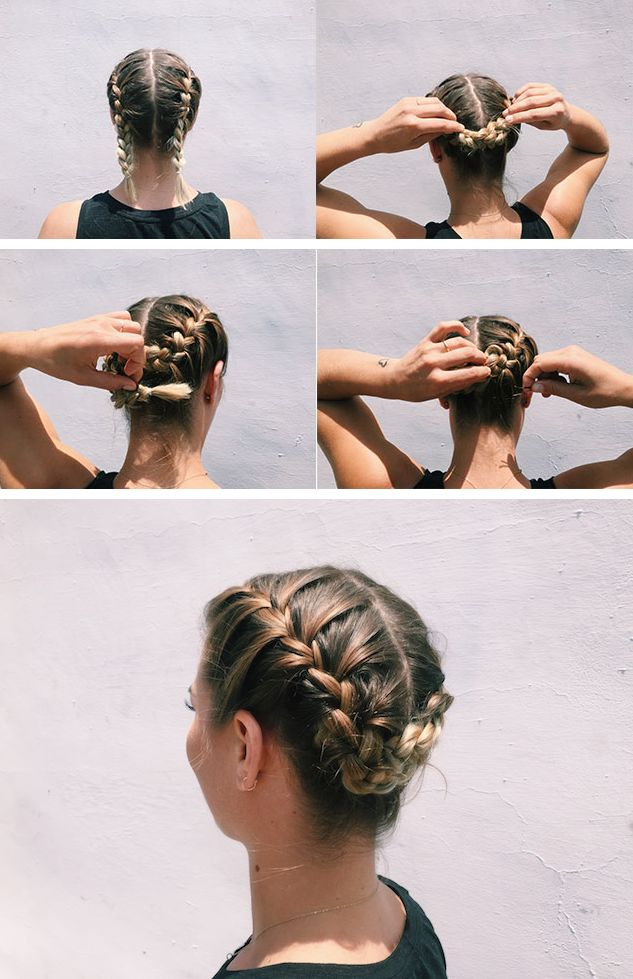 5 Simple Workout Hairstyles from a Beauty Guru | The Braided Tuck | Athleta Chi Blog