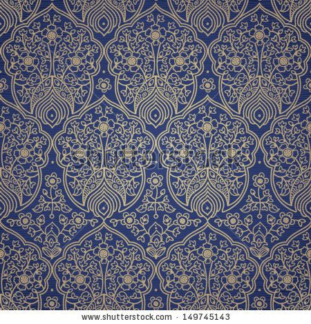 Vintage seamless pattern with lacy ornament. It can be used for wallpaper, pattern fills, web page background, surface textures. - stock vector
