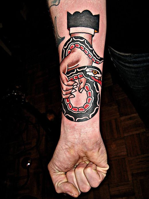 Tight line work. American Traditional Inspired Tattoos by Mark Cross