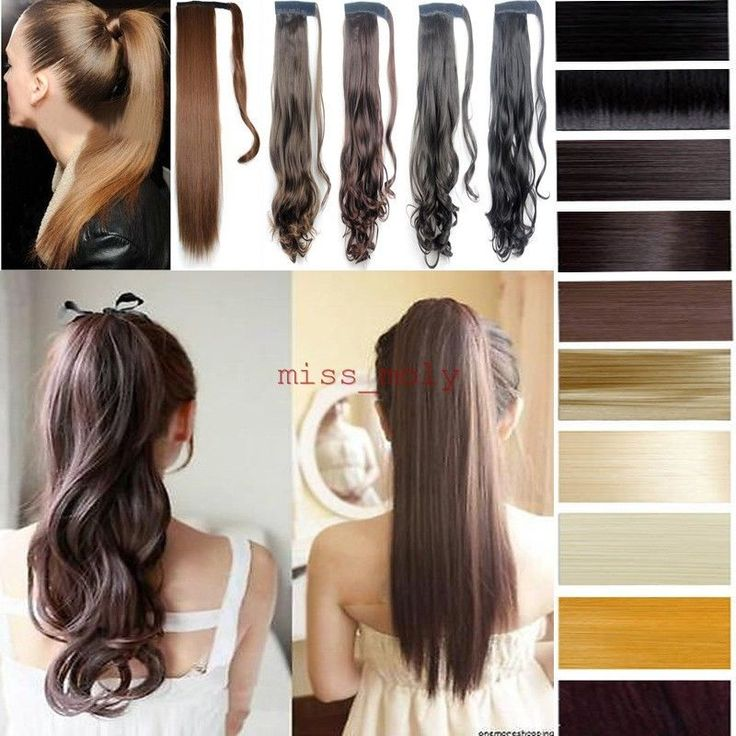 Fashionable Lady Wrap Around Clip In Ponytail Hair Extensions Real Good As Human