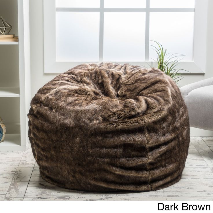 Lounge Beanbag Chair By Christopher Knight Home Dark Brown