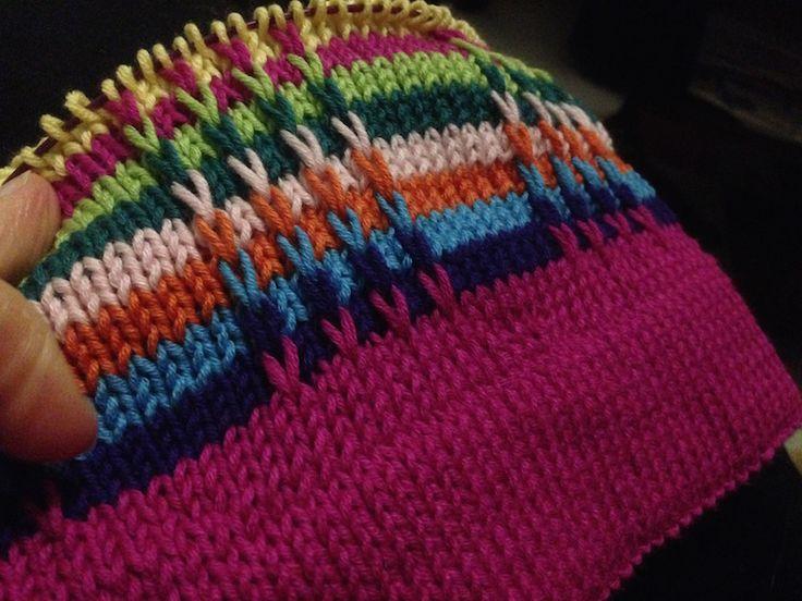 Utkast på mössa med lyftamaskor - Blogg - Mönster på virkat och stickat - Crochetra