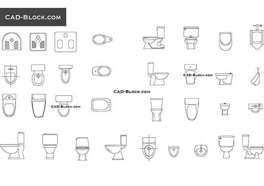 W C  free CAD drawings in 2019   CAD block   Cad blocks