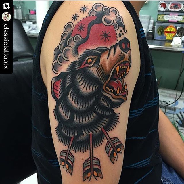 25 best ideas about traditional bear tattoo on pinterest for Tattoo san marcos